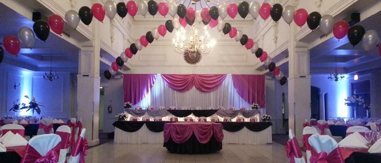 Wedding Banquet Hall Decoration Catering Chicago Linen Rental